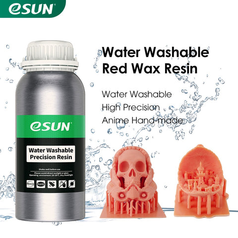 eSUN Water Washable Red Wax Resin 0.5KG