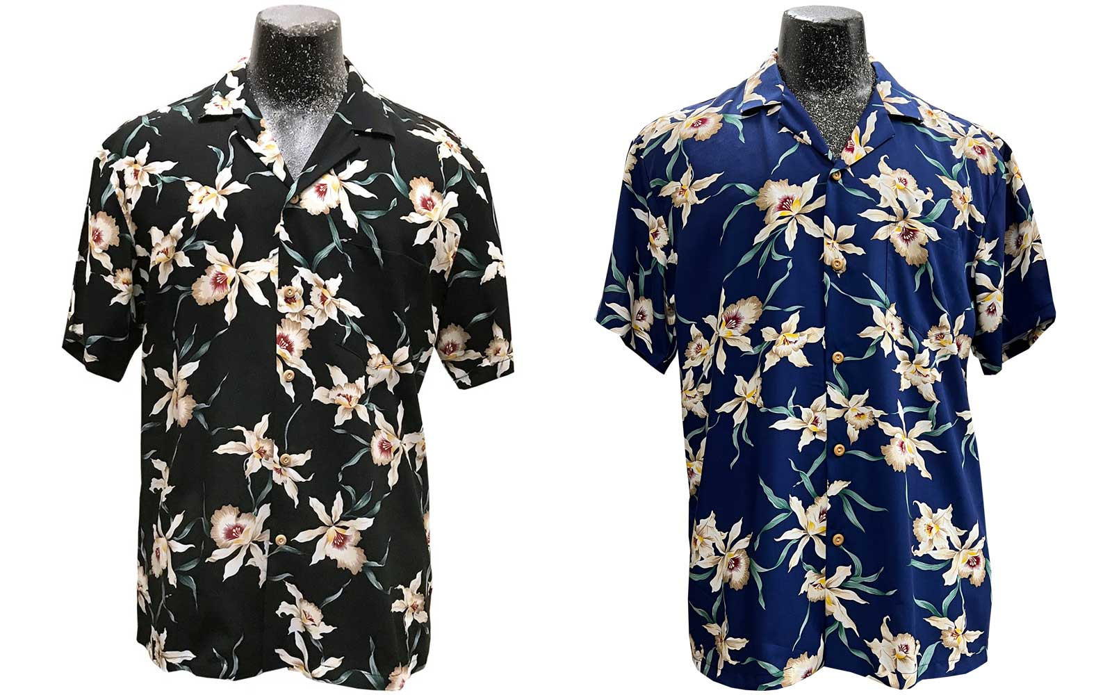 Star Orchid men's shirts in black and navy