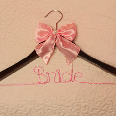Wedding Personalized Wire Name Hanger - Colored Silver Plated Wire