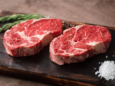 Beef rib-eye steak
