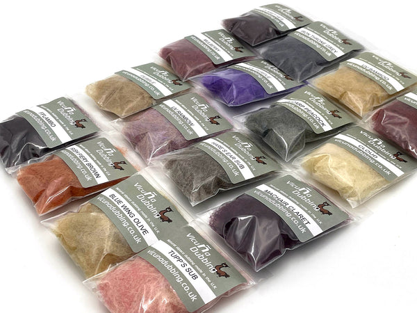 Vicuna Dubbing single packs for fly tying