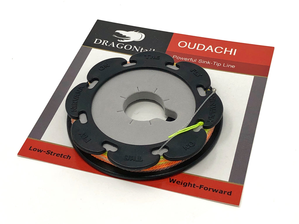 Moonlit Fly Fishing Oudachi Furled Tenkara Line w//Sink Tip Quality Made in USA Includes Line Holder Premium Line