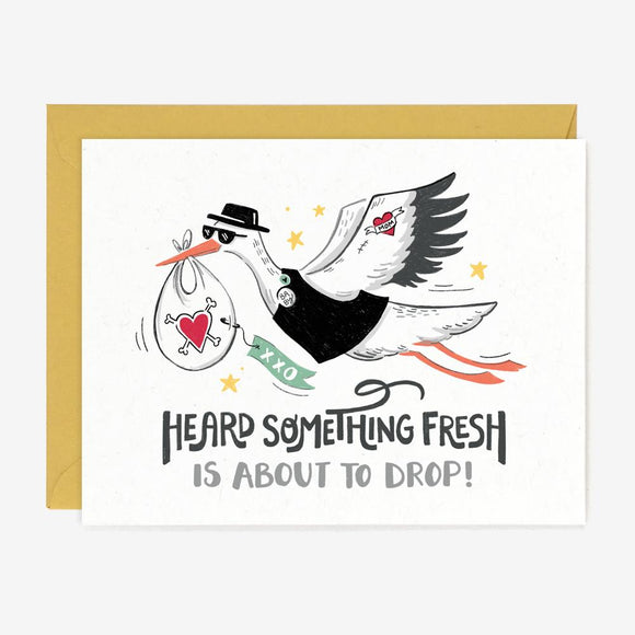 Fresh Drop Stork Card