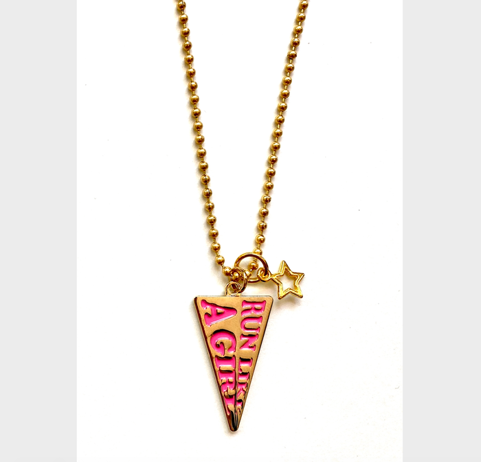 Run Like A Girl Charm Necklace