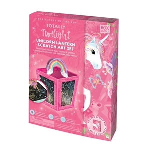 BOX CANDIY® Totally Twilight Unicorn Lantern Scratch Art Set