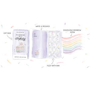 It's a good day for a birthday! Rainbow Bath Bar