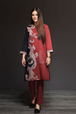 41901141-Cotton Karandi - Red Digital Printed 2PC - Nishat Linen UAE