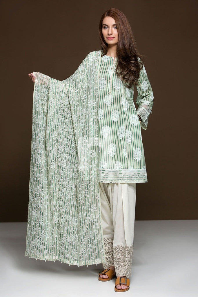 41906086 Lawn & Voil - Beige Printed Embroidered 3PC - Nishat Linen UAE