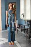 41907255-Slub Lawn & Cambric - Blue Printed 2PC - Nishat Linen UAE