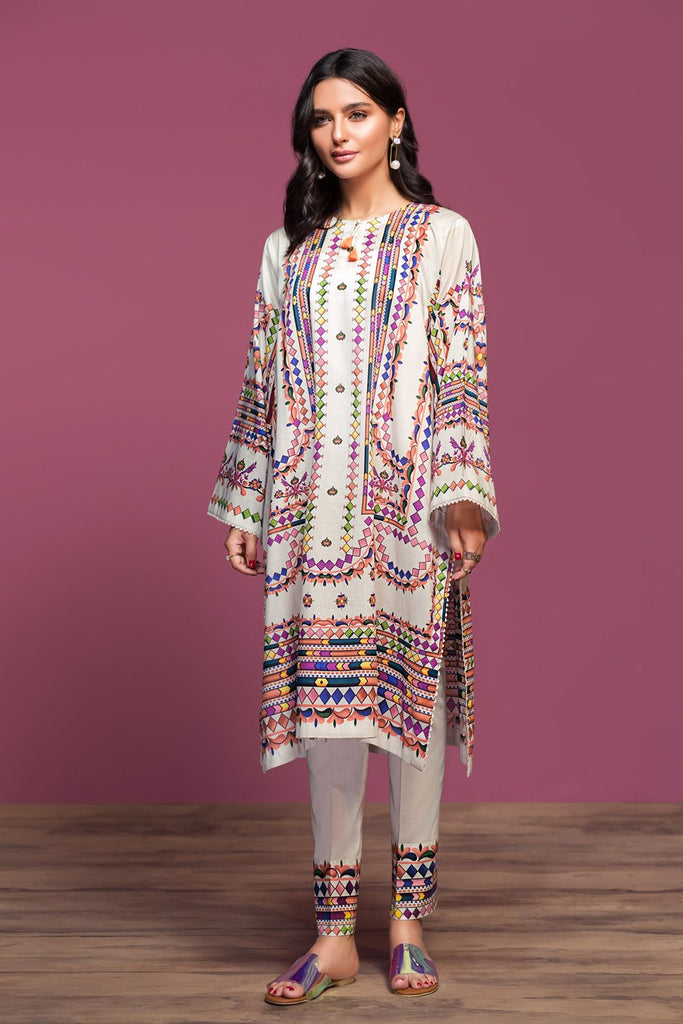 42001009-Digital Printed Lawn & Cambric 2PC - Nishat Linen UAE