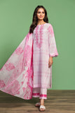 42001031-Printed Embroidered Lawn, Cambric & Voil 3PC - Nishat Linen UAE