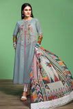 42001063- Printed Embroidered Lawn, Cambric & Chiffon 3PC - Nishat Linen UAE