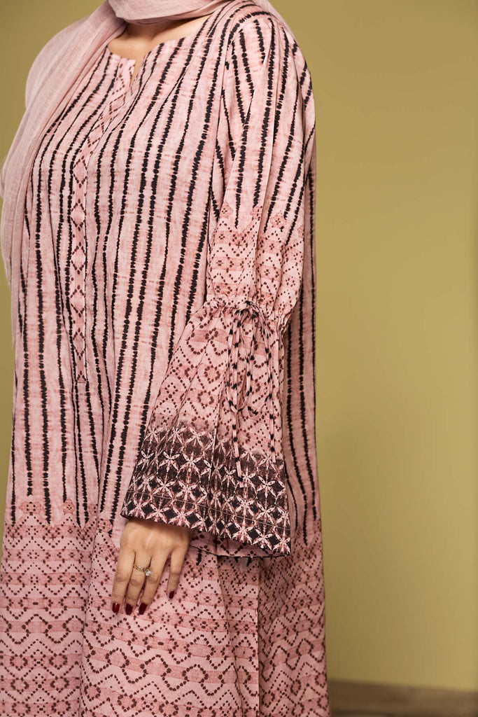 DS20-19 Printed Stitched Jalabiya – 1PC - Nishat Linen UAE