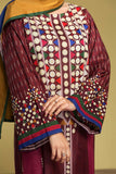 DS20-27 Printed Stitched Jalabiya & Printed Scarf - 2PC - Nishat Linen UAE