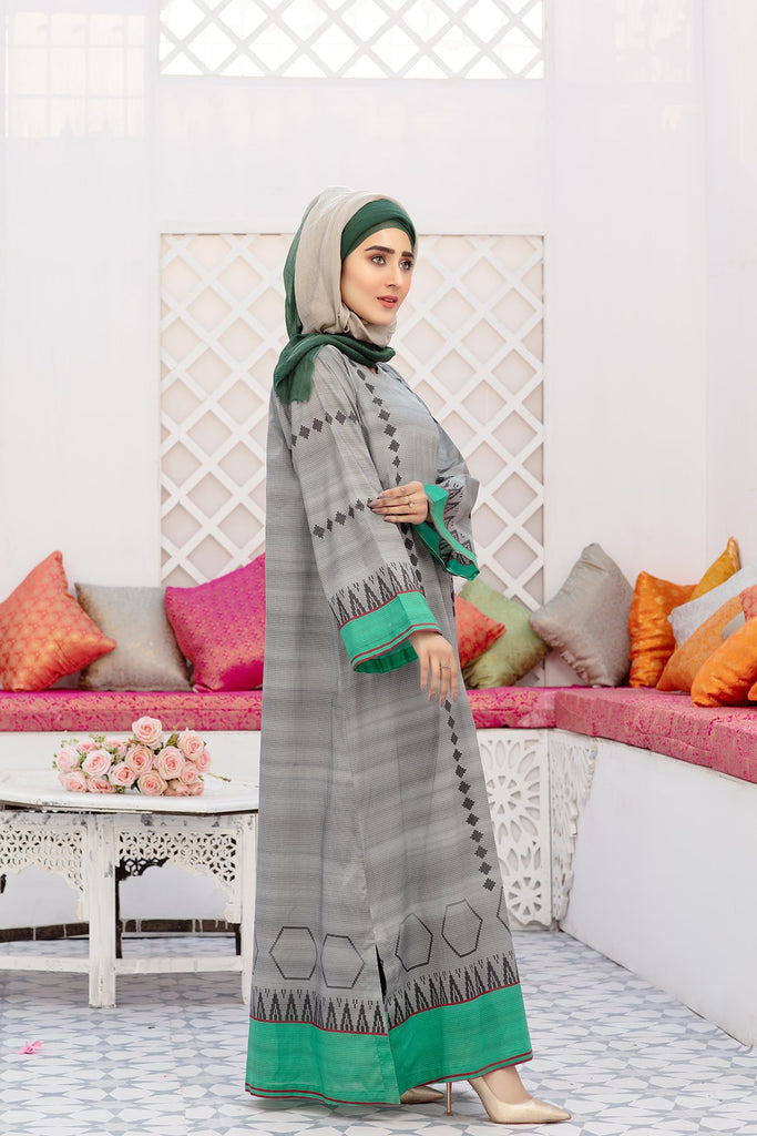 DS20-43 Printed Stitched Jalabiya – 1PC - Nishat Linen UAE