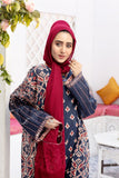 DS20-45 Printed Stitched Jalabiya – 1PC - Nishat Linen UAE