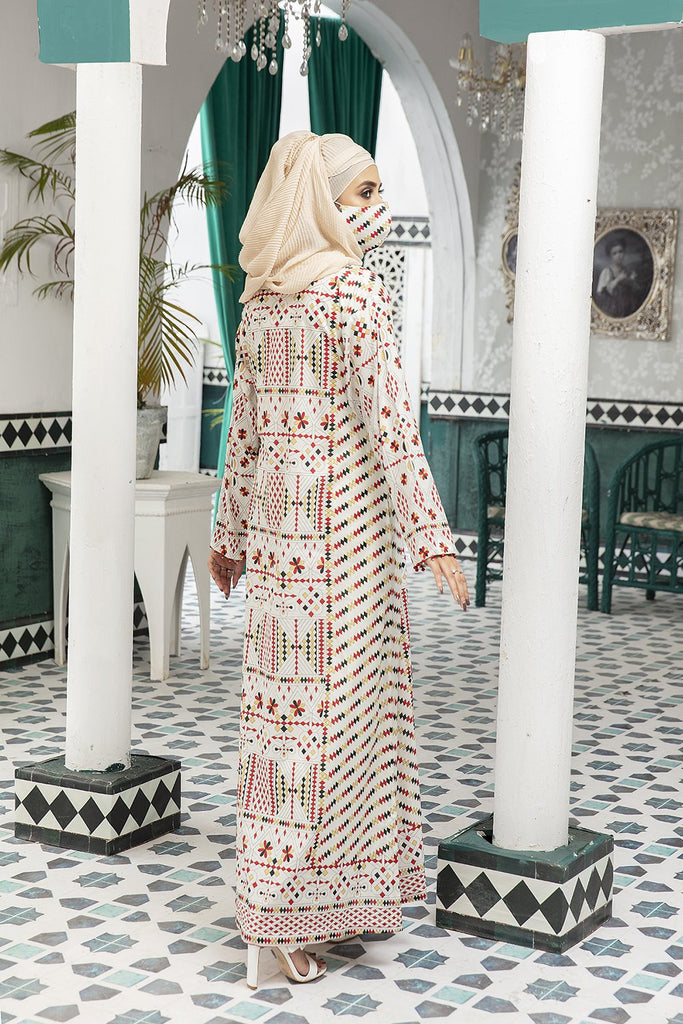 DS20-69 Printed Stitched Jalabiya ƒ?? 1PC