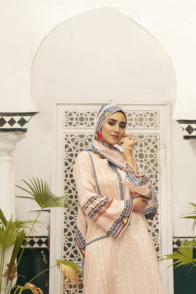 DS20-83 Printed Stitched Jalabiya ƒ?? 1PC