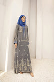 DW20-64 Digital Printed Linen Stitched Jalabiya with Mask – 1PC