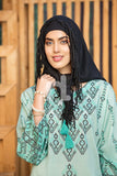 DS19-37 Green Printed Stitched Lawn Jalabiya - 1PC - Nishat Linen UAE