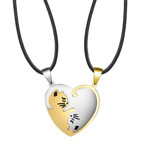 Lovely cat Necklaces with 8 styles for lovers & BFF & friends💙