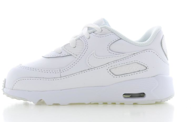 NIKE AIR MAX 90 LEATHER WIT KINDEREN