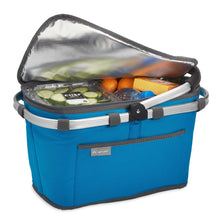 Load image into Gallery viewer, Insulated interior keeps perishables fresh on trips to the market or while traveling.
