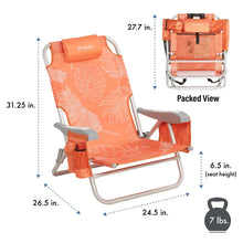 Load image into Gallery viewer, Infographic describe the chair's dimension and weight.