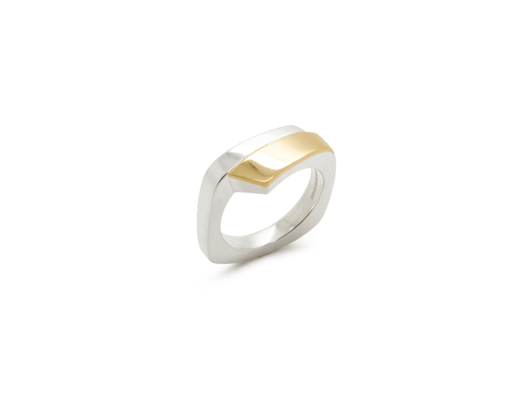 Silver / Gold Crossover Ring