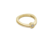 Load image into Gallery viewer, Delicate Diamond Split Ring, Yellow Gold
