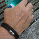 WAVEPIRATE Lederarmband HAWAII R Dunkelbraun