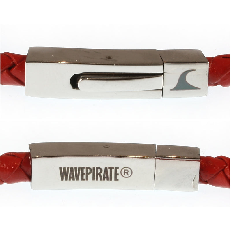WAVEPIRATE Lederarmband ONE F ROT