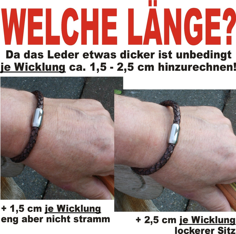 WAVEPIRATE Lederarmband TURN F Dunkelgrau