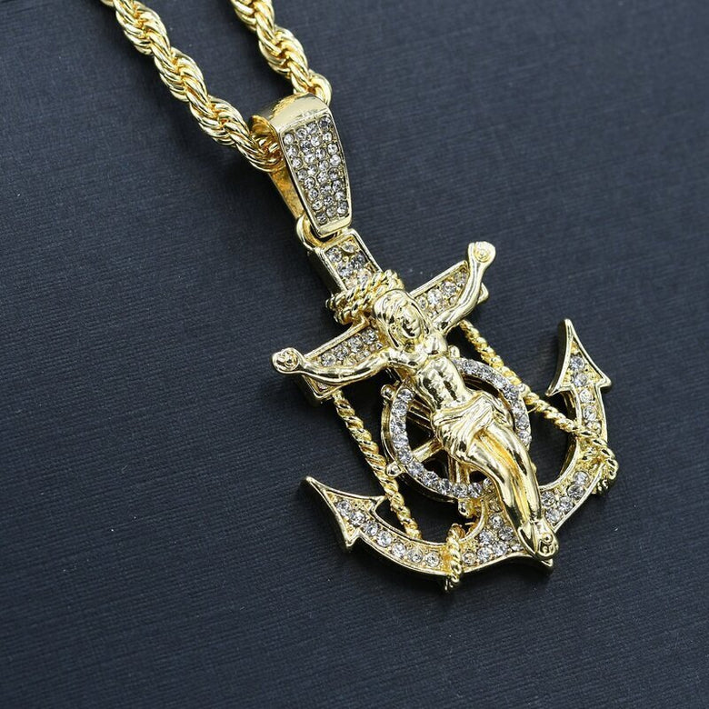 ANCHOR Necklace Hip Hop chain and charm