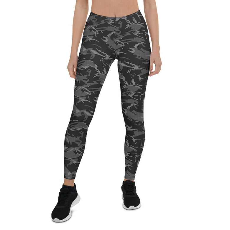 Women's Black Camouflage tight Leggings