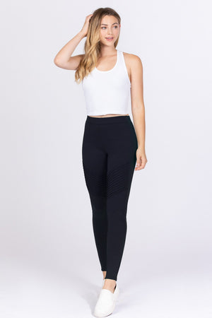 Pintuck Detail Ponte Pants