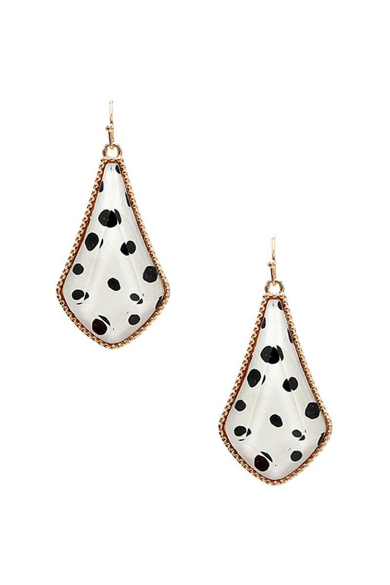 Animal Print Metal Tear Shape Earring