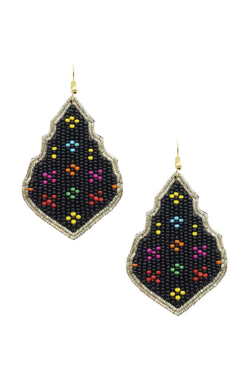 Seed Bead Pattern Dangle Earring