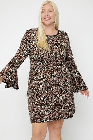 Bell Sleeves Print Dress