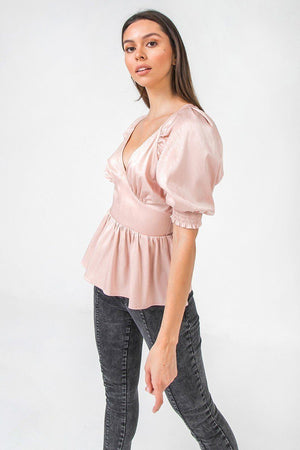 A Solid Sateen Top