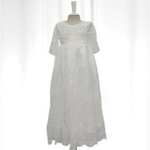 Abby Lace Christening Gown