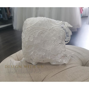 Lace hand made bonnet