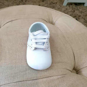 Christening baby shoes - white