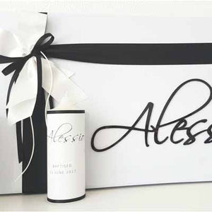 Personalized Storage Box & Candle - Alessio