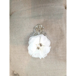 Custom Made Rose clip with diamante