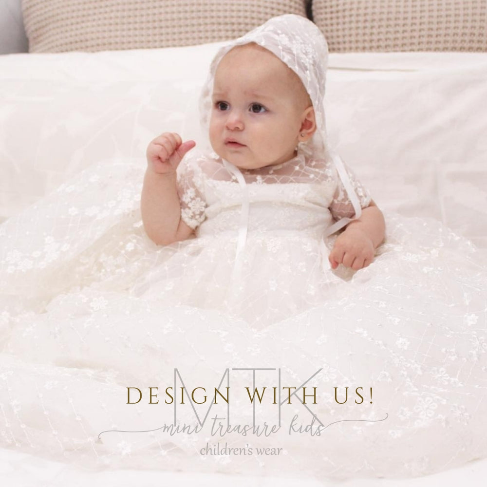 Load image into Gallery viewer, Rosa lace Christening dress