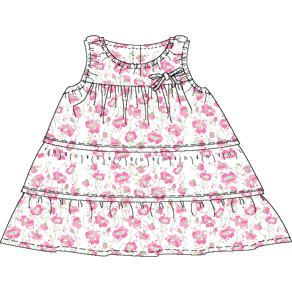 Load image into Gallery viewer, Australian handmade Cotton Baby Girl Cotton Dress