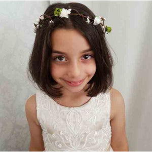 Load image into Gallery viewer, Franca champagne flower girl / communion dress