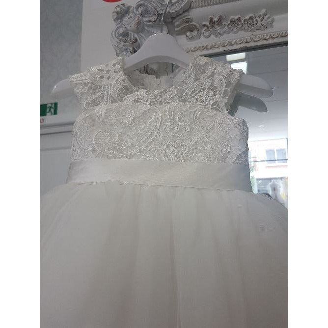 Guipure lace dress with high and low layered - Custom Made