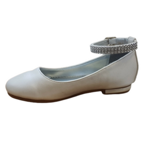 Diamante strap girls communion  shoe